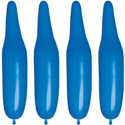 100 Pack Plain Dark Blue Modelling Balloons - 321Q Latex