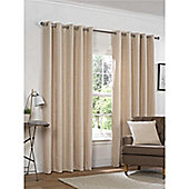 Rapport Yale Chenille Eyelet Curtains - Natural