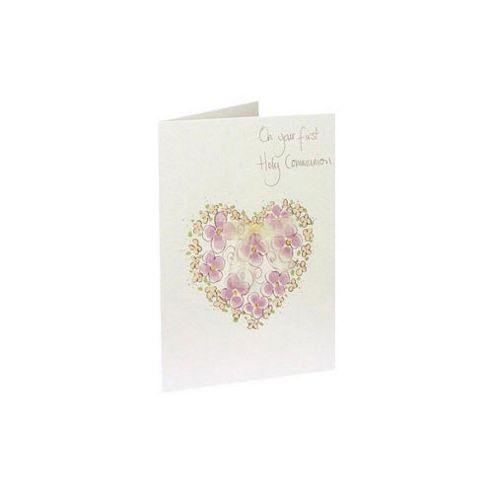 Keepsake Communion Heart Card