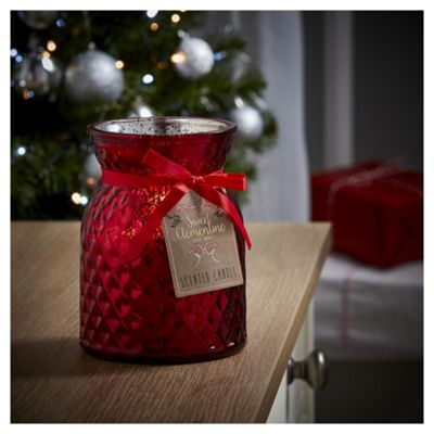 Tesco Christmas Sweet Clementine Metallic filled candle