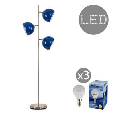 Elliott 150cm LED Floor Lamp - Dark Blue
