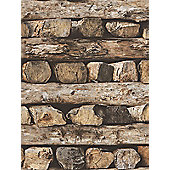 Rasch Stacked Logs Wallpaper 931808