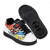 Heelys Dual Up White/Black/Multi Comic Kids Heely X2 Shoe - White
