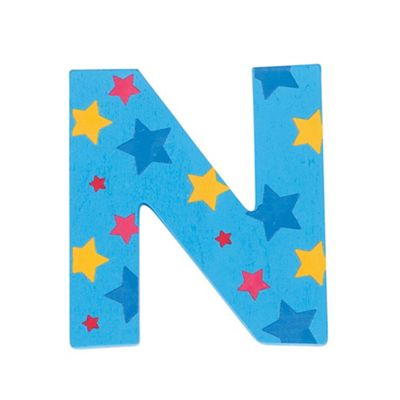 Bigjigs Toys Star Letter N (Blue)