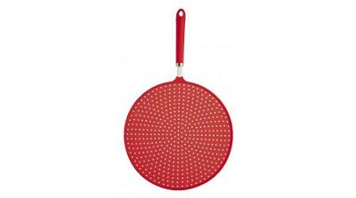Kitchen Craft Colourworks 28cm Silicone Splatter Screen - Red
