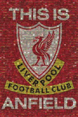 Liverpool FC Photomosaic This Is Anfield LFC Poster