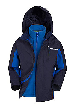Mountain Warehouse Cannonball 3 in 1 Kids Waterproof Jacket - Blue