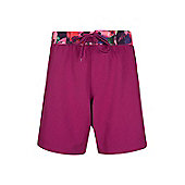 Mountain Warehouse Womens Beach Shorts Soft and Durable with Adjustable Waist - Red
