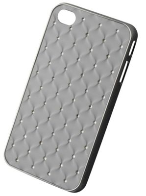 Tortoise™ Hard Case iPhone 4/4S Diamante Quilt White