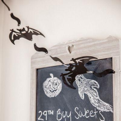 Halloween Black Bat Garland Decoration