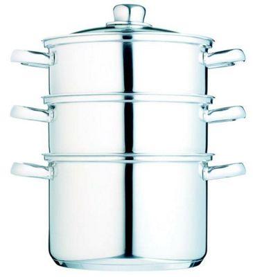Kitchen Craft Clearview Stainless Steel Three Tier Steamer 22cm
