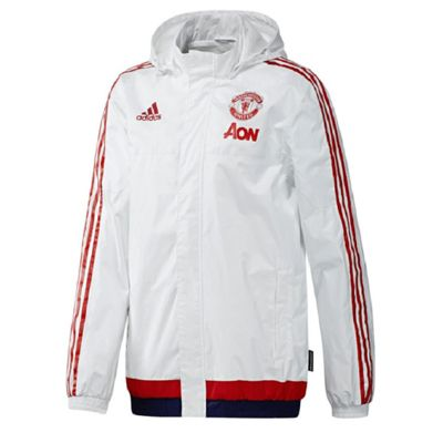 Manchester United FC Adidas Mens Shower Jacket Small