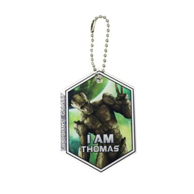 Guardians of the Galaxy Personalised Groot Keyring