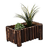 Outsunny Raised Flower Wooden Planter Container Box w/ 4 Feet (55L x 35W x 25H (cm))