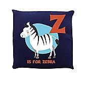 Z Is For Zebra Navy Blue Cushion 40 x 40cm