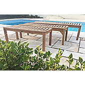 Teak Backless Garden Bench - 120cm