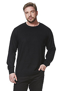Jacamo Capsule Crew Neck Jumper - Black
