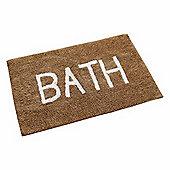 Homescapes BATH Phrase Mink Brown Bath Mat