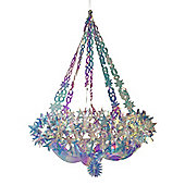 60cm Hanging Holographic Star Chandelier