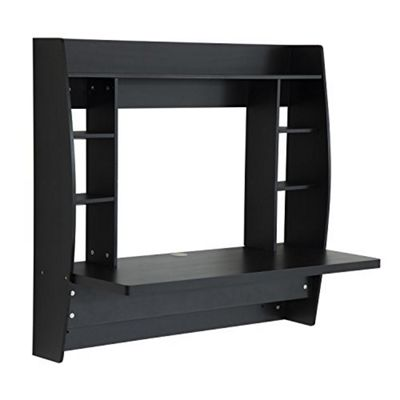 Homcom Floating Wall Mounted Desk Table-Black