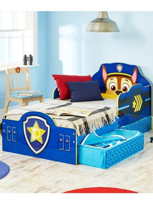 Paw Patrol Chase Toddler Bed With Storage Plus Fully Sprung Mattress