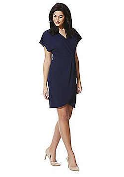 Mela London Wrap Front Dress - Navy