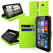 Orzly Multifunctional Wallet Case for the Nokia Lumia 535 - Green
