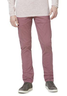 F&F Stretch Skinny Leg Chinos Pink 30 Waist 30 Leg