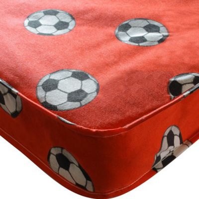 Kidsaw Football Red Sprung Single Mattress