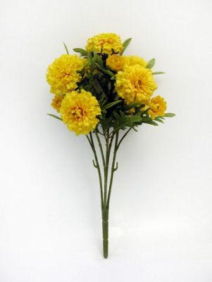 Artificial - Marigold Bush - Yellow