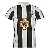 Newcastle United FC Mens 1996 Retro Shirt - Black