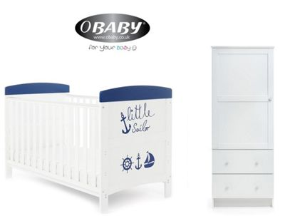 Obaby Grace Inspire Cotbed and Wardrobe Set - Little Sailor