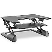 VonHaus Black Sit to Stand Workstation
