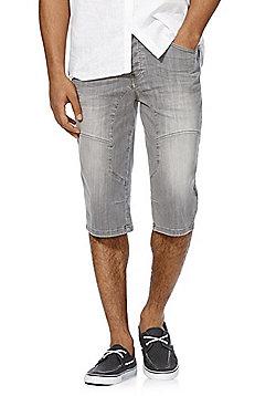 F&F Three Quarter Length Denim Shorts - Grey
