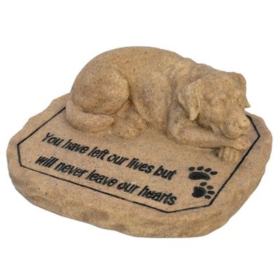 Dog -Sleeping Heart Statue