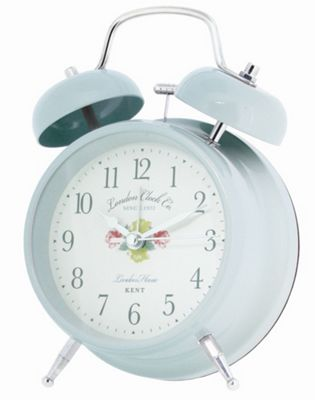 London Clock Company Vintage Style Twin Bell Alarm Clock - Pink