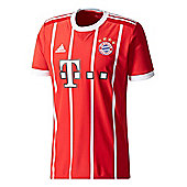 adidas FC Bayern Munich 2017/18 Mens Home Jersey Shirt Red - L - Red
