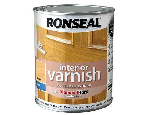 Ronseal Interior Varnish Quick Dry Satin Beech 750ml RSLIVSBE750