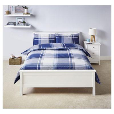 Tesco Blue Basics Tonal Oversize Check king