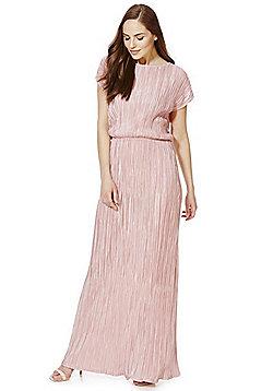 Mela London Plisse Maxi Dress - Blush