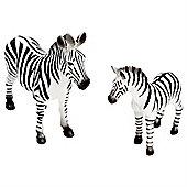 Realistic Zebra & Foal Figurine Toys by Animal Planet