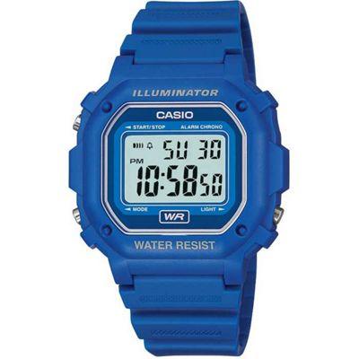 Casio Casio Mens Resin Alarm, Stopwatch Watch F-108WH-2AEF