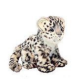 Hansa 18cm Sitting Snow Leopard Soft Toy