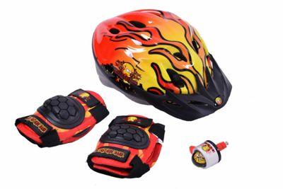 Bart Simpson Kids Helmet, Pads & Bell Bike Gift Set