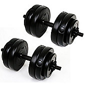 Palm Springs Fitness 30Kg Vinyl Dumbbell Weights Set