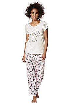 F&F Butterfly Print Pyjamas - Multi