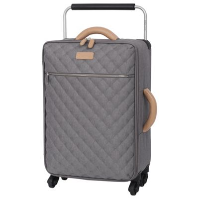buy it luggage tritex quilted 4 wheel grey cabin case from. Black Bedroom Furniture Sets. Home Design Ideas