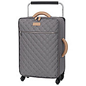 IT Luggage Tritex Quilted 4 wheel Grey Cabin Case