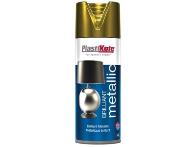 Plasti-kote Brilliant Metallic Spray Gold 400ml