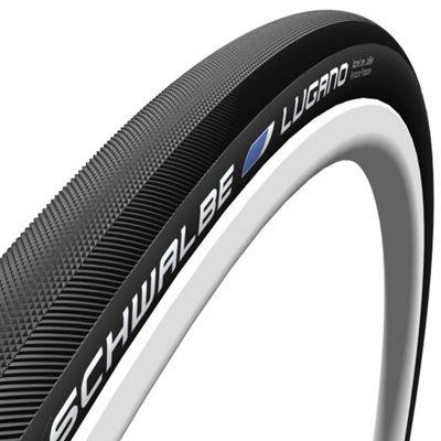 Schwalbe Lugano Tyre: 700c x 22mm Black-Skin Tubular. HS 424, 22-622, Active Line, Kevlar Guard